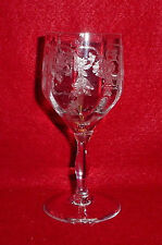 TIFFIN Crystal PRINCESS pattern WINE Glass Stem # 13643