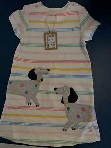 Joules Sausage Dog Dress 9-12 Months BNWT