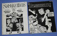 Swashbucklers #2 (1980) and #4 (1981) comic/magazine lot