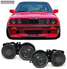 EURO SMILEY Headlights Pair set for BMW E30 Headlight Lights Smoke Smoked Black