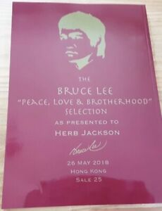 Bruce Lee Rare Aution Catalog Magazine Kelleher And Rogers Hong Kong
