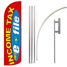 WINDLESS Swooper Feather Full Sleeve Banner Sign Flag KIT - INCOME TAX E-FILE