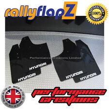 ANTIBECCHEGGIO per adattarsi HYUNDAI GETZ RallyflapZ Parafanghi in Nero (logo Bianco) 3mm PVC