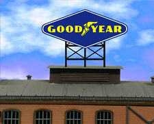 Good Year Animated Neon Sign great for Slot Cars roadsid Scalextric AFX