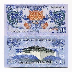 Bhutan 1 Ngultrum 2006 UNC Banknote Paper Money  P27