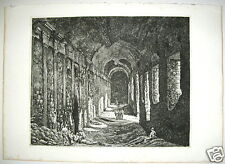 1824 Rossini Rome Le Antichita Romane interior Temple Hercules engraving etching