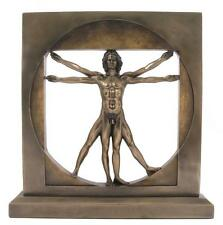 Veronese Bronze Figurine Leonardo Da Vinci Vitruvian Man Study of Proportion