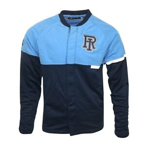 Rhode Island Rams NCAA Men's Basketball Navy Blue Authentic On-Court Jacket