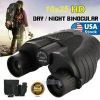 10X25 Zoom Binoculars with Night Vision Prism High Power Waterproof Shockproof