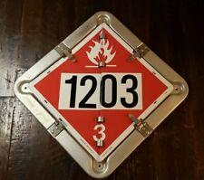 Vintage Flip File Dot Truck Placard 135 X 135 Aluminum 6 Legend