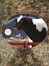 "Franklin Mint By Lowell Herrero ""Harvest Moon� Oval Plate"