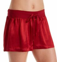 PJ Harlow RED Mikel Satin Sleep Boxer Shorts, US Medium