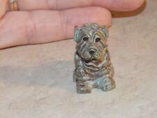 Miniature Shar Pei Dog Gray Stone? Figurine Home Decor Collectible