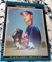 CHARLIE MORTON 2002 Bowman CHROME Rookie Card RC Houston Astros HOT 7-0 2.04 ERA
