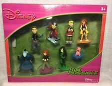 2004 Disney Store Kim Possible Figurine Set Figures Shego Drakken Ron Rufus new
