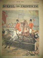 CHEVAUX AU CONCOURS HIPPIQUE PAR ADRIEN MARIE JOURNAL SOLEIL DU DIMANCHE 1893
