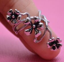LONG FLOWER STAINLESS STEEL RING GREAT DETAIL Genuine Stainless Steel Size 6