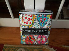 NIP Cynthia Rowley Diamond Pattern White/Pink/Blue Full/Queen Quilt & Shams