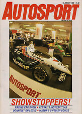 Autosport 12 Jan 1989 - Mansell tries interim Ferrari, Survey American Racing