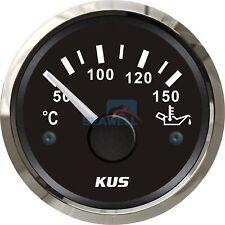 KUS Boat Marine Oil Temp Gauge Engine Generator Temperature Gauge 50-150 °C