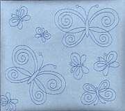 """Blue Suede Butterfly 8X8"""" Scrapbook Album - Crafty Koala"""
