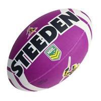 43548 MELBOURNE STORM NRL LOGO KIDS MINI SIZE 11' FOOTBALL FOOT BALL FOOTY