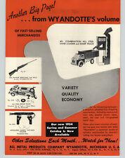 1954 PAPER AD Wyandotte's Red Ranger Cap Gun Rifle Moto Fix Truck Sand Loader