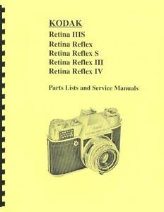 Kodak Retina Reflex, Reflex S, Reflex III, Reflex IV, Retina IIIS Service Manual