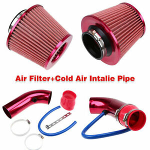 3'' Universal Car Cold Air Intake Filter Alloy Induction Kit Pipe Hose System