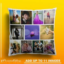 Personalised Photo Pillowcase Cushion Pillow Case Cover Custom Gift up to 11 pic