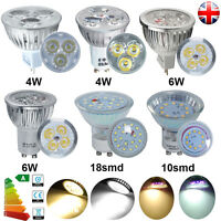 4/10/20x GU10 MR16 LED Bulbs 3W 4W 5W 6W 7W SMD Spotlight Day/Warm White G4 Lamp