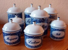 Vorratsgefäße Gewürzgefäße Küche Porzellan weiß mit blauem Dekor Kahla