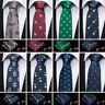 New Silk Animal Ties Set Red Burgundy Navy Blue Green Gray Neckties Men Neck Tie