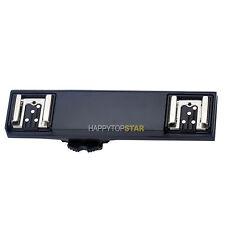 TTL Hot Shoe Splitter 1 to 2 Bracket Fr Nikon D5 D7300 D7200 D810 Pentax Olympus