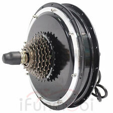 48V 1500W Threaded Brushless Gearless Hub Motor Rear Wheel Motor For E-Bike