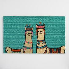 Colorful Llamas Welcome Mat Entrance Doormat ~ Sturdy 100% Recycled Coir Fiber