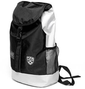 KHL hockey daypack / backpack, officially licensed, black/ light gray