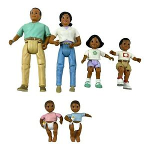 Vintage Fisher Price Loving Family African American Family 6 Figures 1998