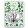 2019 1 oz Silver American Eagle - Happy St Patrick's Day Clovers - SKU#186885