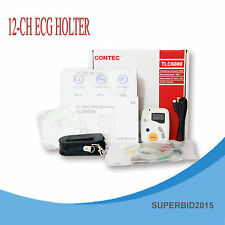 CONTEC 12-CHANNEL 48hours Dynamic ECG Systems ECG / EKG holter OLED TLC SOFTWARE