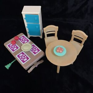 Dollhouse Furniture Sylvanian Families Epoch Mixed Lot Replacement Table Chair