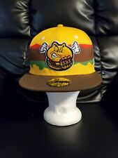 Hartford Yard Goats MiLB Fitted New Era Hat size 7 1/8 cap Steamed Cheeseburgers