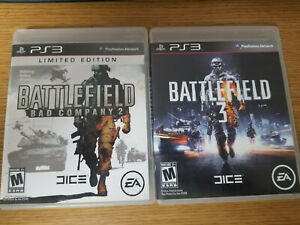 Lot of 2 Playstation 3 Battlefield 2 & 3 Video Games Complete