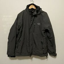 THE NORTH FACE Black/Gray Vented Zip Ski Snowboarding Jacket M Gore Tex FLAWED