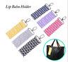 Fashion Wave Wristlet Lip Balm Key Ring Lipstick Chapstick KeyChain Holder Gift
