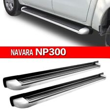 Nissan Navara NP300 Polished Aluminium Side Steps Running Boards 2016+ D23 M243