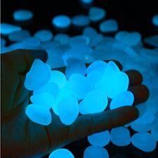 100Pcs Glow in The Dark Stone Pebbles Rock Fish Tank Aquarium Garden Decor