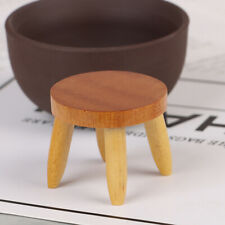 1:12 Dollhouse Miniatures Wood Stool Chair Bench Model Doll House AccessoriesAxb