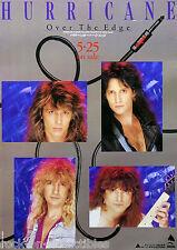 Hurricane 1988 Over The Edge Japan Promo Poster Hair Metal Glam AOR Original