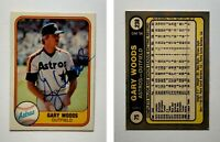 Gary Woods Signed 1981 Fleer #75 Card Houston Astros Auto Autograph